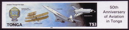 Tonga 1989 - History Of Flight - Imperf Plate Proof - Tonga (1970-...)