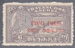 INDIA  -COCHIN   SCOTT NO 01  MINT HINGED   YEAR  1949  PERF 12 - Poontch