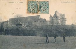 Barbezieux (16 Charente) Le Château - Parlementassions Avec Le Garde Champêtre édit. Phot. Trochon Circulée 1904 - Altri Comuni