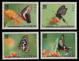 Taiwan 1989 - Mi-Nr. 1867-1870 ** - MNH - Schmetterlinge / Butterfly - Unused Stamps