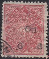INDIA  -TRAVENCORE   SCOTT NO 05   USED  YEAR  1918 - Travancore