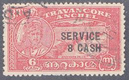 INDIA  -TRAVENCORE   SCOTT NO 059    USED  YEAR  1945 - Travancore