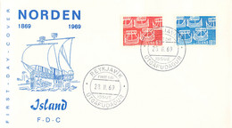 Iceland FDC 1969 NORDEN (DD33-14) - FDC