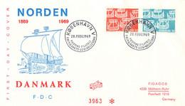 Denmark FDC 1969 NORDEN (DD33-14) - FDC