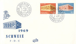 Switzerland 1969 FDC Europa CEPT (DD33-14) - 1969