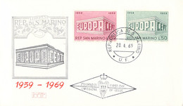 San Marino 1969 FDC Europa CEPT (DD33-14) - 1969