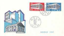 Norway 1969 FDC Europa CEPT (DD33-14) - 1969