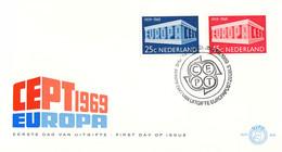 Netherlands 1969 FDC Europa CEPT (DD33-14) - 1969