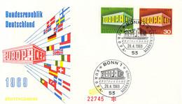 Germany 1969 FDC Europa CEPT (DD33-14) - 1969