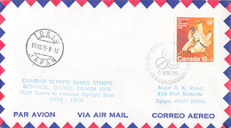Canada Flight Cover FDC 1976 Montreal Olympic Games - To Previous Olympic Sites: Tokyo (DD33-13) - Verano 1976: Montréal