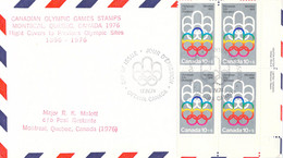 Canada Flight Cover FDC 1976 Montreal Olympic Games - To Previous Olympic Sites: Montreal (DD33-13) - Verano 1976: Montréal