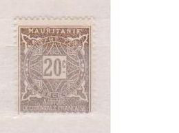 MAURITANIE         N°  YVERT   TAXE 20   NEUF AVEC CHARNIERES      ( CHARN  03/ 37 ) - Unused Stamps