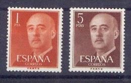 ESPAÑA SEGUNDO CENTENARIO SERIES Nº 1290/91 ** FRANCO - 1951-60 Neufs