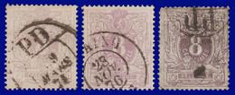 """N°29 - Lion Couché Avec Chiffre - 3 Exemplaires En """"NUANCES"""" 29/29a/29b - 1869-1888 Lying Lion"""