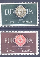 ESPAÑA SEGUNDO CENTENARIO SERIES Nº 1294/95 ** EUROPA - 1951-60 Neufs