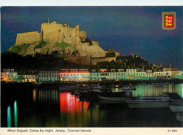 CPSM Jersey-Mont Orgueil,Gorey By Night-Beau Timbre    L1005 - Jersey