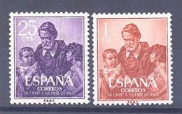 ESPAÑA SEGUNDO CENTENARIO SERIES Nº 1296/97** SAN VICENTE DE PAUL - 1951-60 Neufs