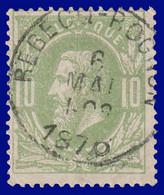"""N°30 - Belle Oblitération """" REBECQ-ROGNON"""" - 1869-1883 Leopold II"""