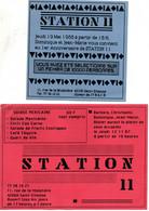 Lot D'une  Carte Pub  D'invitation Et D'un Menu  A Station 11 à Saint Etienne . - Otros