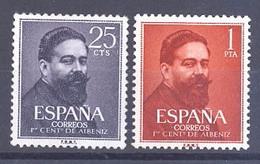ESPAÑA SEGUNDO CENTENARIO SERIES Nº 1320/21**ALBENIZ - 1951-60 Neufs