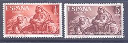 ESPAÑA SEGUNDO CENTENARIO SERIES Nº 1326/27** AÑO MUNDIAL DEL REFUGIADO - 1951-60 Neufs