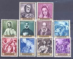 ESPAÑA SEGUNDO CENTENARIO SERIES Nº 1330/39 ** EL GRECO - 1951-60 Neufs