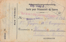 Card To A French POW In Germany, Kriegsgefangenenlager Hameln Am Weser Censored By Etappen Inspektion 6 And Also - WW1 (I Guerra Mundial)