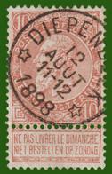 """COB N°57 - Belle Oblitération DR """"DIEPENBEEK"""" - 1893-1900 Fine Barbe"""