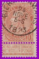"N°57 - Belle Oblitération ""BIERSET-AWANS"" - 1893-1900 Fine Barbe"