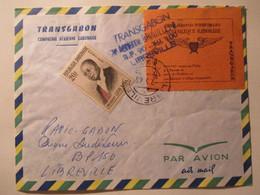 Raccomandata Aerea Leon Mba 1963 - Gabon (1960-...)