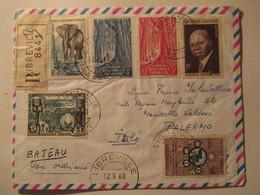Raccomandata  Africa Equatoriale Per L'italia 1957 - Gabon (1960-...)