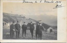 Carte Photo écrite Et Localisée - Briançon Le 5 Décembre 1914 - Personen