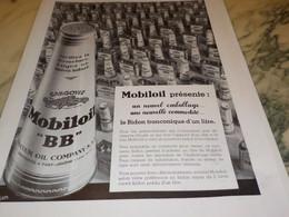 ANCIENNE PUBLICITE NOUVEAU EMBALLAGE DE  MOBILOIL  1934 - Sonstige