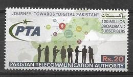 PAKISTAN 2021 STAMPS PAKISTAN TELECOMMUNICATION AUTHORITY MNH - Pakistan