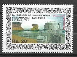 PAKISTAN 2021 STAMPS INAUGURATION OF 1100MW KARACHI NUCLEAR POWER PLANT UNIT 2 MNH - Pakistan