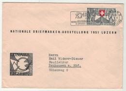 "Suisse // Lettre Avec Oblitération Flamme ""Luzern Lunaba Nationale Briefmarken Austellung"" - Cartas"