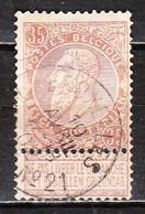 61  Fine Barbe - Bonne Valeur - Oblit. BRUXELLES AGENCE N°21 - LOOK!!!! - 1893-1900 Fine Barbe