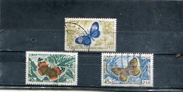 Liban 1965 Yt 333-335 Timbres Pour La Poste Aérienne Papillons Divers, Même Présentation - Lebanon