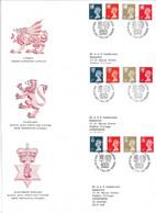 REGIONALES 1990, Y&T N° 1499-1510 North Ireland SG 44 55 61 67 Scotland 58 66 73 79 Wales 45 56 62 68 - Covers & Documents