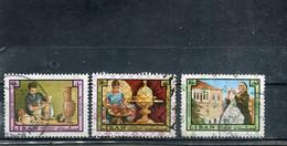 Liban 1973 Yt 575D-575E 575G Timbres Pour La Poste Aérienne Série Courante - Lebanon