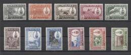 Malaysia Penang Animals Tiger Tiere 1960 1c To $5 SG 55/65 MNHOG - Penang