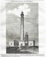 GRAVURE De 1836.. PHARE De BARFLEUR ( Manche 50) - Prints & Engravings