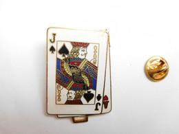 Beau Pin's En EGF , Jeu De Cartes , Valet De Pique  , ATTENTION : Pointe Recollée - Games