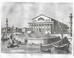 GRAVURE De 1836.. RUSSIE. Bourse De SAINT PETERSBOURG - Prints & Engravings