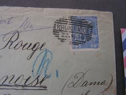 Galicien , Krukenice Nach Kopenhagen , 1916  Zensuriert  Rotes Kteuz - Covers & Documents