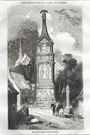 GRAVURE De 1836.. Monument Romain à IGEL, En PRUSSE - Prints & Engravings