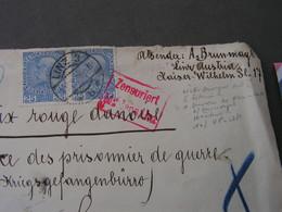 R-Brief Linz 1918   Nach Kopenhagen ,  Zensuriert - Covers & Documents