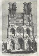 GRAVURE De 1836.. Vue De La Cathédrale De LAON ( Aisne 02) - Prints & Engravings