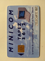 TELECARTE FRANCE TELECOM  120 MINICOM MINITEL - Advertising