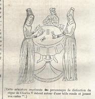 GRAVURE De 1836 Avec Article.. LES CARTES Et TAROTS - Prints & Engravings